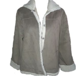 Alfred Dunner faux tan suede jacket